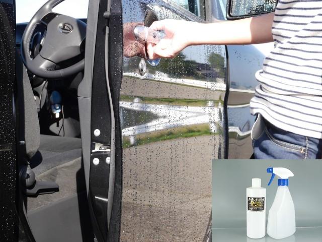 水なし施工でも抜群の撥水性能を発揮する、洗えるコーティング/マジックベール