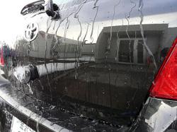 ポリマー系ガラスコーティング『ファイングロス』とコンディショナーの混合コーティングによる頑固な汚れ除去の後