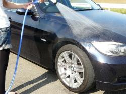 車のガラスコーティング  ハイブリッドナノガラス コーティング前処理 鉄粉除去4