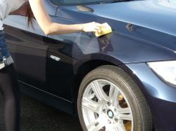 車のガラスコーティング  ハイブリッドナノガラス コーティング前処理 ゼウス2