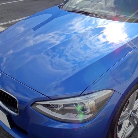 洗車したBMW116iMスポーツに人気のカーコーティング剤「ゼウスα」を施工するとすごい輝きに!/お客様の口コミより