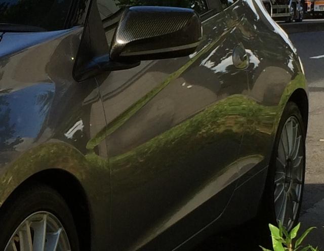 ホンダCR-Zに新型ガラスコーティング『ゼウスα』を施工し、シャープな映り込みを得たコーティング評価・レビュー・口コミ