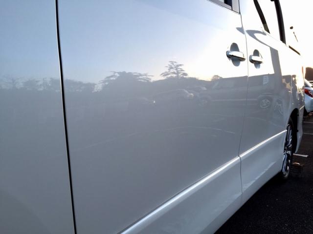 トヨタアルファードに2015福袋限定商品の新型カーシャンプーと新型ガラスコーティングとファイングロスを施工したコーティング効果・評判・レビュー・口コミ