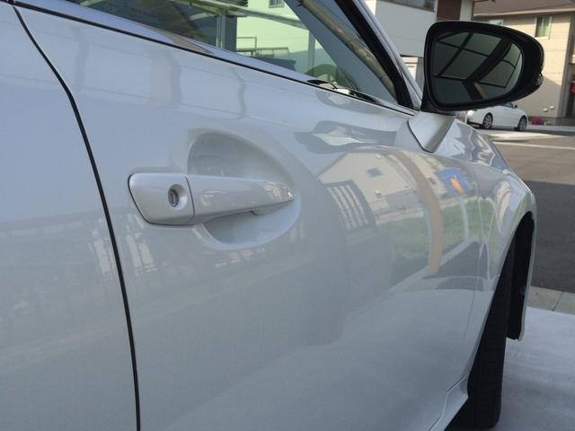 トヨタレクサスGSにハイブリッドナノガラス製品を使用したコーティング効果・評判・レビュー・口コミ