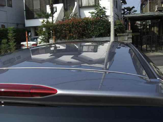 ガラスコーティング施工例 車 ルーフ シルバーメタリック