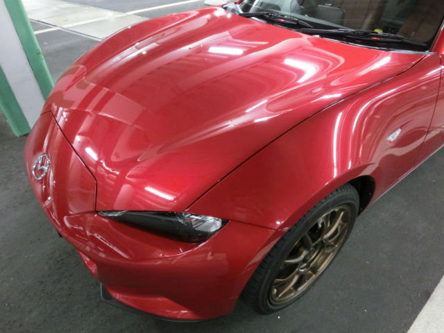 車の小傷・洗車傷消し能力に優れたプレミアムガラスコーティング「スーパーゼウスPremium」をマツダロードスターに施工