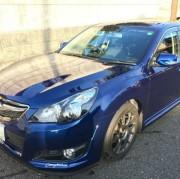福岡県のユーザーがスバルのワゴン/レガシィツーリングワゴンにプレミアム・コーティング/スーパーゼウス【Premium】を施工