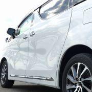 水なし洗車でも汚れや水垢を落とし、撥水性能にも優れたウォッシャブルコーティング/マジックベールを施工したヴェルファイア