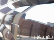 トヨタ ランドクルーザーにプロ用コーティング「D・アーマー」を施工する前(ビフォーアフター)の写真
